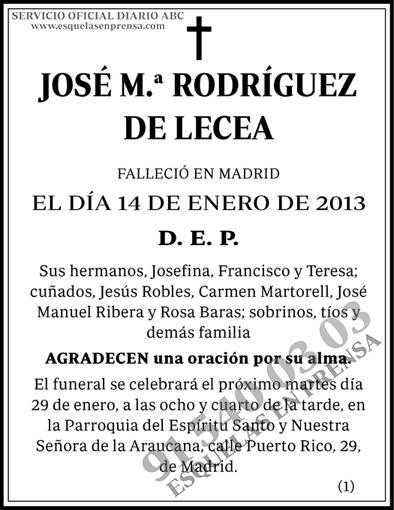 José M.ª Rodríguez de Lecea